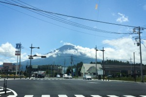 Mount Fuji from the road