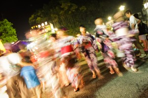 Kimonos on their way to Gujo Odori in Gujo Hachiman, Japan