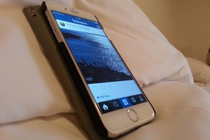 i-phone with Instagram