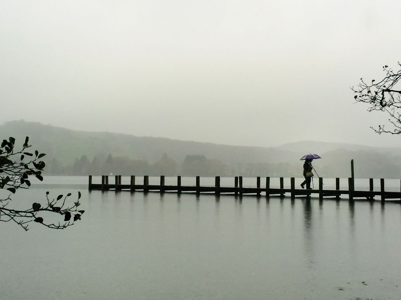 Jetty near Bailiff Wood on Coniston's East Shore Road