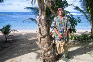 Beach Cleaner on Samoa