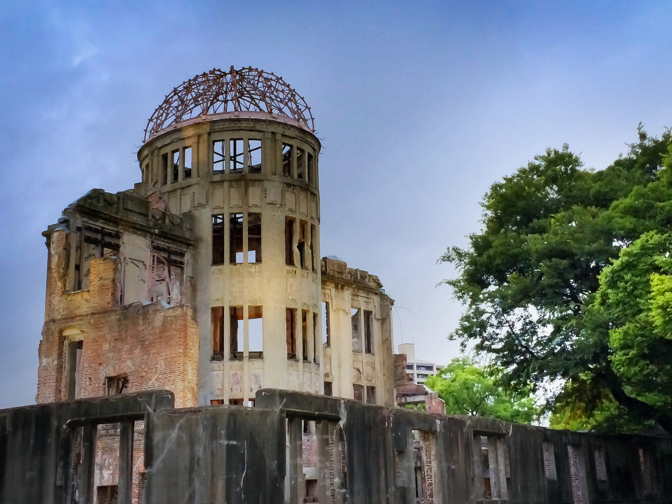 The A Dome at Hiroshima at Dusk