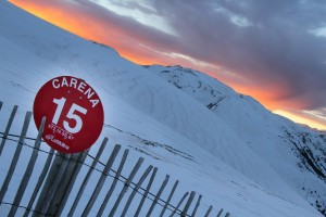 Red Piste at Sunset