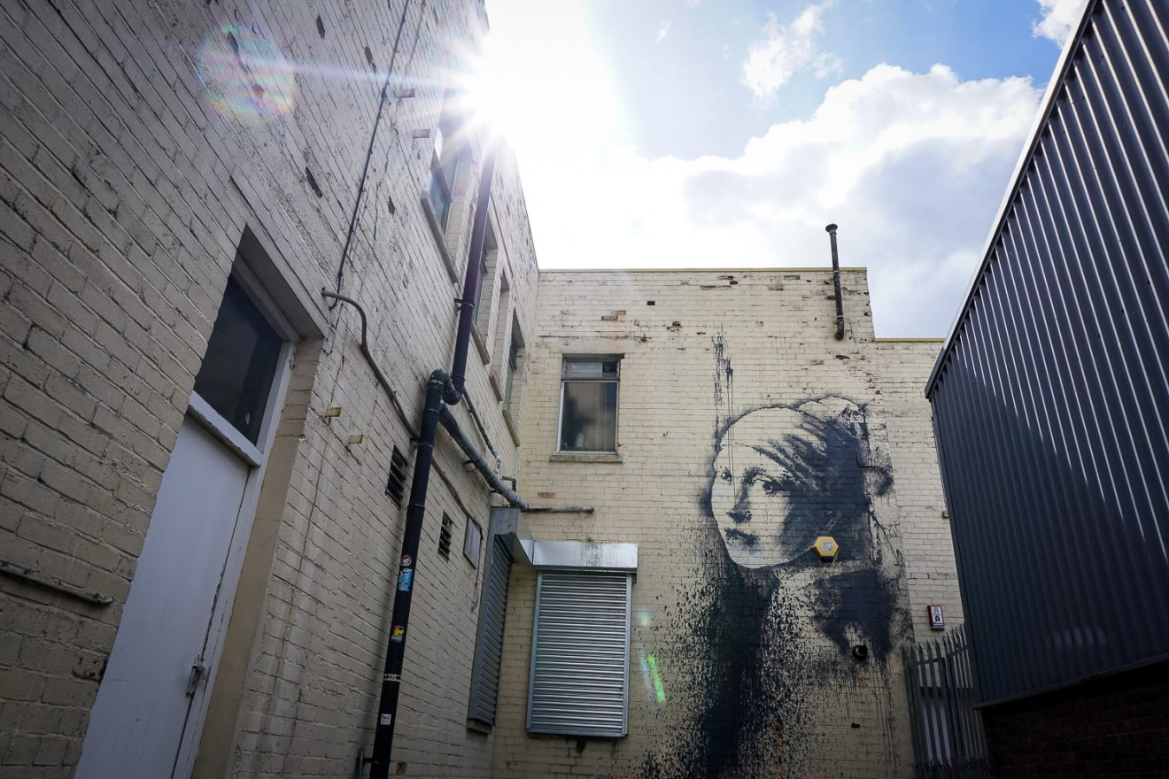 Girl with a pearl earring by Banksy. Image by Kirstie Pelling
